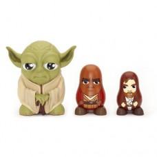 Star Wars Chubby Jedi Yoda/ Mace Windu/ Obi Wan Kenobi Russian Figurines Set Collectable