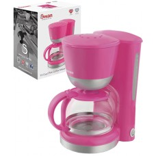 Swan Coffee Maker 1.25L (10-12 Cups) Keep Warm Feature - Pink (Model SK18110PIN)