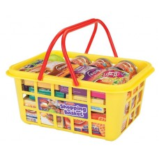 Casdon Shopping Basket with Play Food - Replica Pretend Role Play Kids Toy