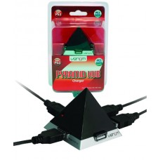 Venom Pyramid 4 Way USB Hub Charger & Cable for PS3 Dualshock & Move Controllers