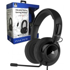 Official Sony PlayStation Licensed Vibration Gaming Headset PS4 and PS3 - Black
