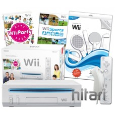 Nintendo Wii Console White with 28 in 1 Sports Pack Bundle Nintendo Wii