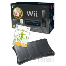 Nintendo Wii Console (Black) with Wii Fit Plus Includes Black Balance Board and