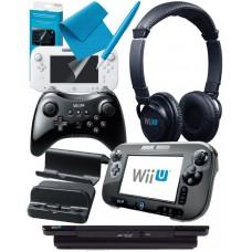 Nintendo Wii U Official Accessories Bundle Pack inc 9 Essential Items for Wii U