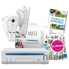 Nintendo Wii Console White With extra Remote and Nunchuk Pack