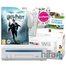 Nintendo Wii Console White and Harry Potter Deathly Hallow Wii