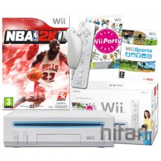 Nintendo Wii Console White with NBA 2K11 Wii Bundle