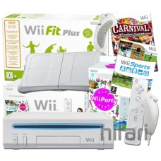 Nintendo Wii Console with Wii Fit Plus and Balance Board inc 168s and 4 Controll