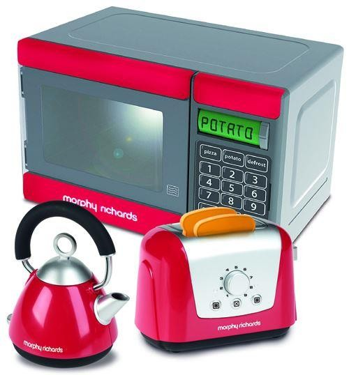 Casdon morphy richards kitchen set microwave kettle for Kitchen set kettle toaster microwave