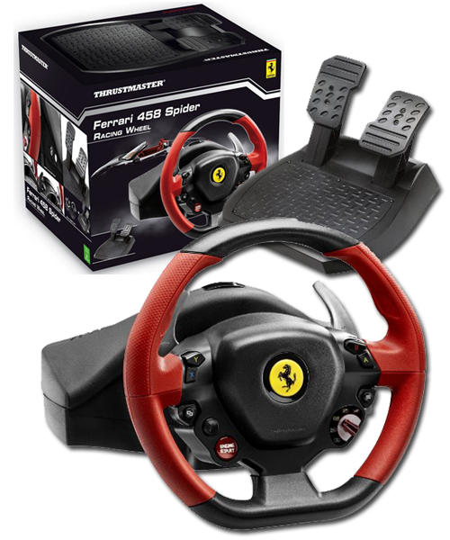 thrustmaster ferrari 458 spider racing wheel xbox one new. Black Bedroom Furniture Sets. Home Design Ideas